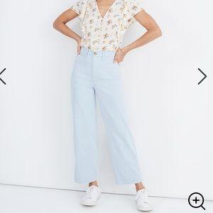 Slim Emmett Wide-Leg Crop Pants in Speckle